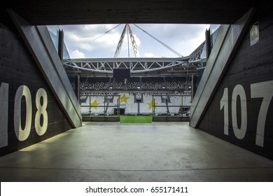 CHELYABINSK, RUSSIA - June 02,2017: Juventus Stadium on June 25, 2016 in Turin, Italy. Juventus stadium is home of Juventus football club.