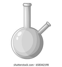 Chemical beaker icon in monochrome style isolated on white background  illustration