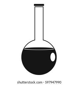 Chemical beaker icon. Simple illustration of chemical beaker  icon for web