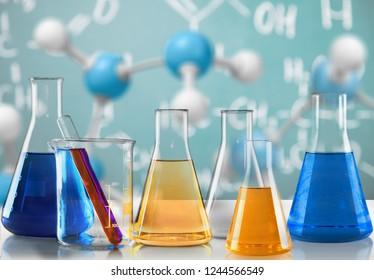 Chemical chemistry laboratory acid alkaline analysis background