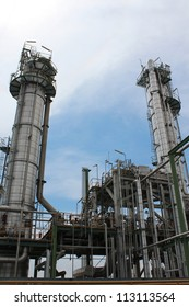 Chemical distillation in chemical plant , Eastern of Thailand