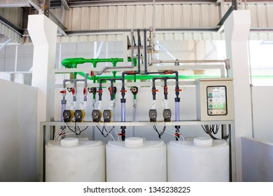 Chemical dosing station for cooling tower