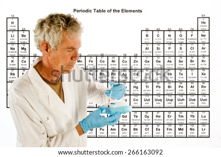 Chemical Engineer Doctor Laboratory Equipment Front Stock Photo
