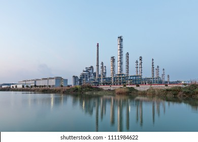 chemical factory with blue sky