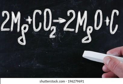 chemical formula on blackboard