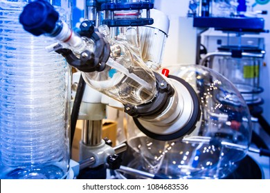 Chemical industry equipment. The industry of medical tablet industry and production. Apparatus for creating medicines. Giant flask for the production of chemical elements.