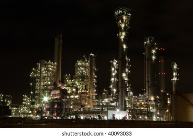 Chemical Installation at Night