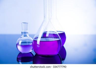 Chemical jugs, glassware