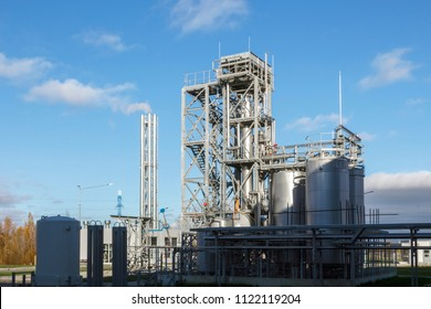 Chemical, Oil industry equipment installation, metal pipes and tanks