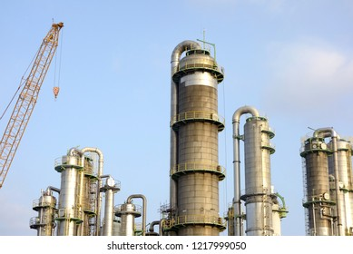 Chemical plant with many pipes
