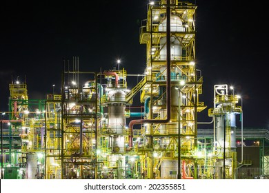 Chemical plant - night scene, Poland