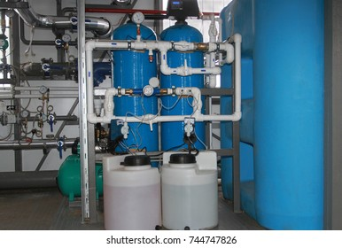 Chemical processing of water for feed in a boiler-house
