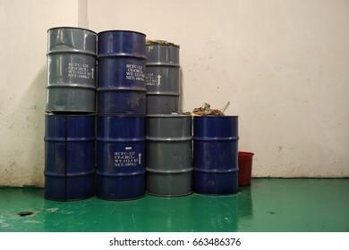 Chemical storage barrels