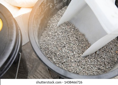 Chemical suction sand absorbent in the tank