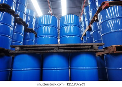 chemical tank in warehouse