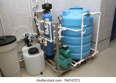 Chemical treatment of water for recharge in the boiler room
