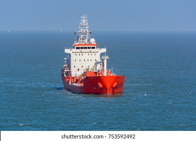 Chemical/oil products tanker  in open sea.