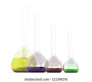 chemicals in capsules on a white background