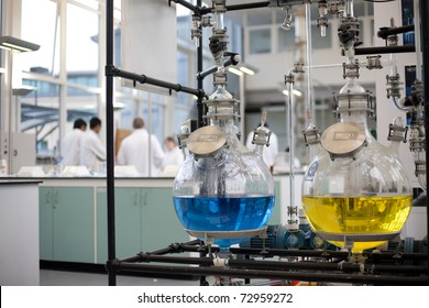 Chemicals stored in laboratory