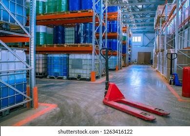 Chemistry. Chemical storage. Barrels. Chemical industry. Logistics. Plastic barrels for chemicals.