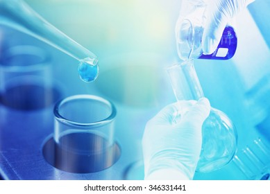 chemistry research at science lab background