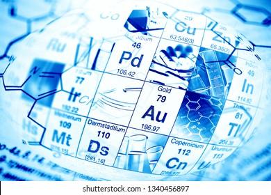Chemistry science formula and tablets. Medicine symbol.