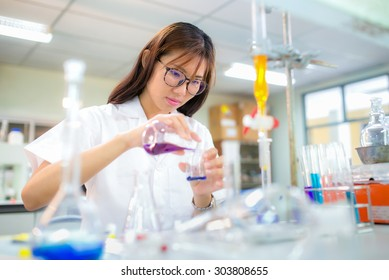 Chemistry students doing research in a chemistry lab