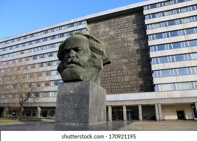 Chemnitz, Modern City at Saxony, Karl Marx monument
