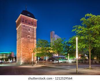 Chemnitz red tower, Saxony, Germany