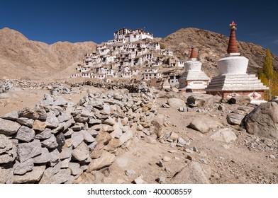 Chemrey monastery in hymalayas valley of Ladakh, India