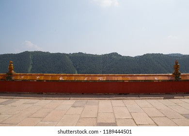 CHENGDE, CHINA, JULY 28, 2018: ancient Chinese red wall of  Putuo Zongcheng temple