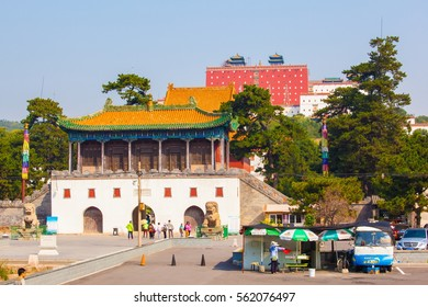 CHENGDE, HEBEI/CHINA-SEP 15: Chengde imperial summer resort scene- Temple of Putuo on Sep 15,2015 in Chengde, Hebei, China. he Resort was China's largest imperial garden.