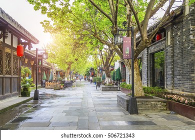 Chengdu, China, May 2016: the famous ancient architectural complex in Chengdu.