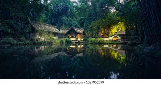 Chengdu Du Fu Thatched Cottage Chinese garden