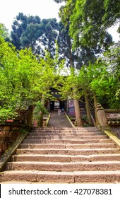 CHENGDU, SICHUAN/CHINA-MAY 11: Mount Qingcheng scecery on May 11, 2016 in Sichuan, China. Mount Qingcheng is one of famous Taoism mountains in China.  Its located in the vicinity of Chengdu.