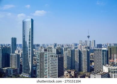 chengdu,china city skyline