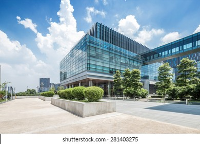 Chengdu,China-July 23,2014:Empty floor and modern office building in Chengdu.It's the  epitome of fast development in southwest china.
