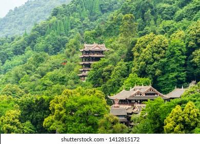 Chengdu,China-May 20:The Dujiang Dam , an ancient irrigation system in Dujiangyan City, Sichuan, China