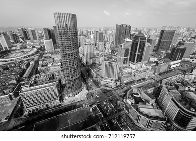 Chengdu,Sichuan province, China?May 2th,2017?The city view of Chengdu downtown,China