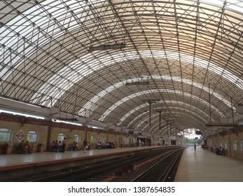 CHENNAI, INDIA 9 FEBRUARY 2018 : Platform of Metro railway station at Chennai.