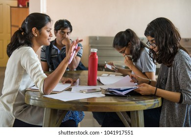 CHENNAI, INDIA - April 2018: Indian School Debating Society workshop with secondary school students. The ISDS is a not-for-profit organization,  that aims to take competitive debating to students