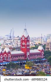 CHENNAI, INDIA - JUlY 22, 2017:Chennai Central Railway Station, chennai, India
