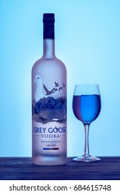 CHENNAI, INDIA - JULY 23,2017: Grey Goose is a brand of vodka in france.