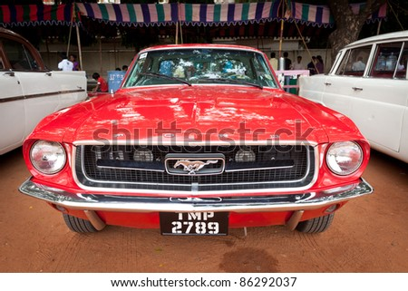 Chennai India July 24 Ford Mustang Retro Stock Photo Edit Now
