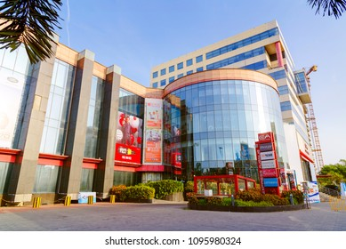 Chennai, India - May 22, 2018 : Express Avenue is a big shopping mall in chennai, India