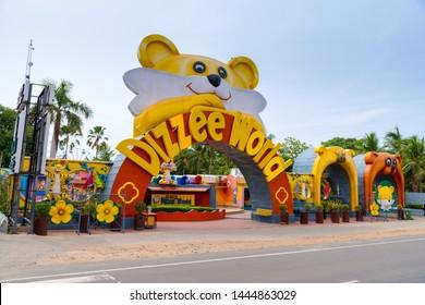 CHENNAI, TAMIL NADU, INDIA, JULY 07, 2019: MGM Dizzee World, a theme park  on Muttukadu, chennai, tamil Nadu, India