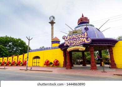 CHENNAI, TAMIL NADU, INDIA, JULY 07, 2019: VGP Universal Kingdom on Injambakkam - family amusement park. chennai, tamil Nadu, India