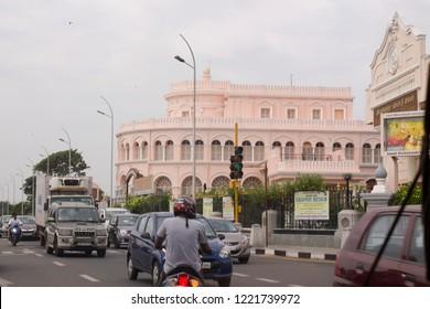 Chennai, Tamil Nadu in India on September 10, 2018: Vivekananda House or Vivekanandar Illam, the best place to see in Chennai