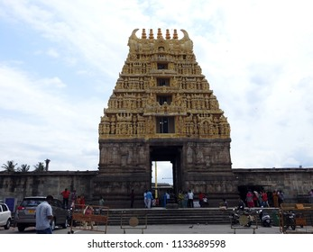 Chennakeshava Temple, Belur, Hassan District of Karnataka state, India - 12th May 2018 : It was commissioned by Hoysala Empire King Vishnuvardhana in 1117 CE.