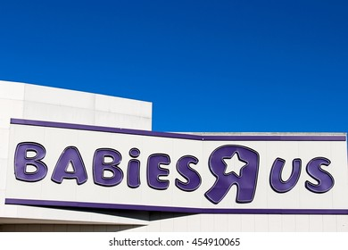 """CHENNEVIERES SUR MARNE - FRANCE, JULY 18, 2016: Babies """"R"""" Us is a chain of toy shops created in the United States."""